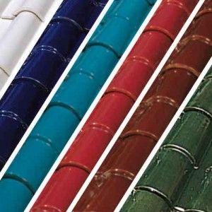 Tejas colores esmaltados