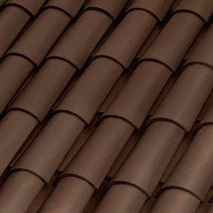 Tejas marrón curva 40x15